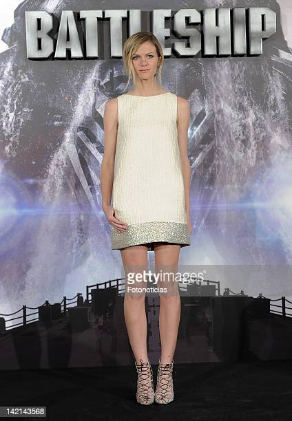 Actress Brooklyn Decker attends a photocall for 'Battleship' at Villa Magna Hotel on March 30 2012 in Madrid Spain