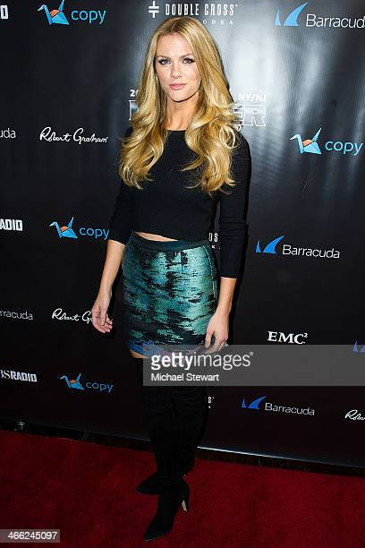 Actress Brooklyn Decker attends the 11th Annual Leather Laces Party at The Liberty Theatre on January 31 2014 in New York City