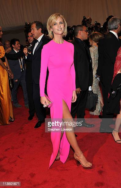 Actress Brooklyn Decker attends the Alexander McQueen Savage Beauty Costume Institute Gala at The Metropolitan Museum of Art on May 2 2011 in New...