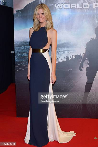 Actress Brooklyn Decker attends the 'Battleship' Japan Premiere at International Yoyogi first gymnasium on April 3 2012 in Tokyo Japan