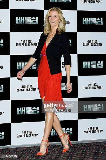 Actress Brooklyn Decker attends the 'Battleship' Press Conference on April 5 2012 in Seoul South Korea The film will open on April 11 in South Korea
