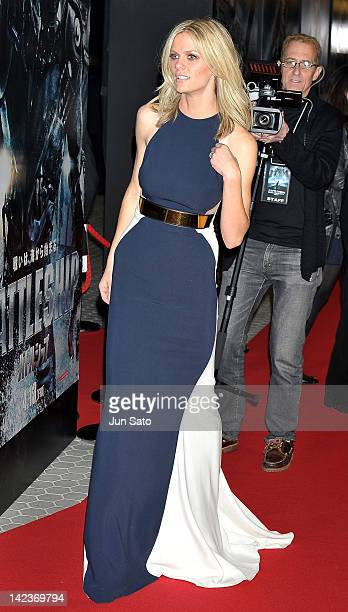 Actress Brooklyn Decker attends the 'Battleship' World premier at Yoyogi National Gymnasium on April 3 2012 in Tokyo Japan The film will open on...