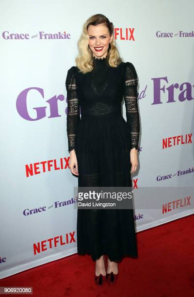 Actress Brooklyn Decker attends the premiere of Netflix's 'Grace and Frankie' Season 4 at ArcLight Cinemas on January 18 2018 in Culver City...