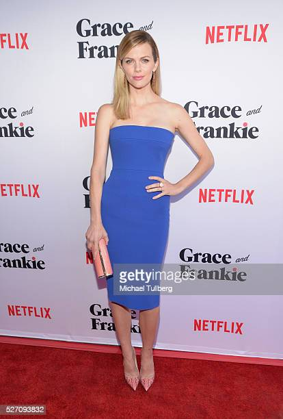 Actress Brooklyn Decker attends the premiere of Season 2 of the Netflix Original Series Grace Frankie at Harmony Gold on May 1 2016 in Los Angeles...