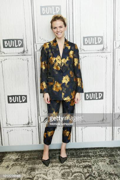 Actress Brooklyn Decker visits Build Studio to discuss #BlogHer18 Creators Summit on August 6 2018 in New York City