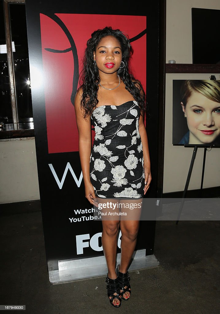 Actress Brooklyn Lowe attends the one year anniversary celebration for the WIGS digital channel at Akasha Restaurant on May 2, 2013 in Culver City, California.