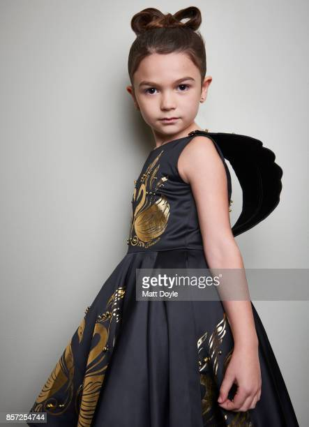 Actress Brooklyn Prince from the film 'The Florida Project' poses for a portrait at the 55th New York Film Festival on October 1 2017
