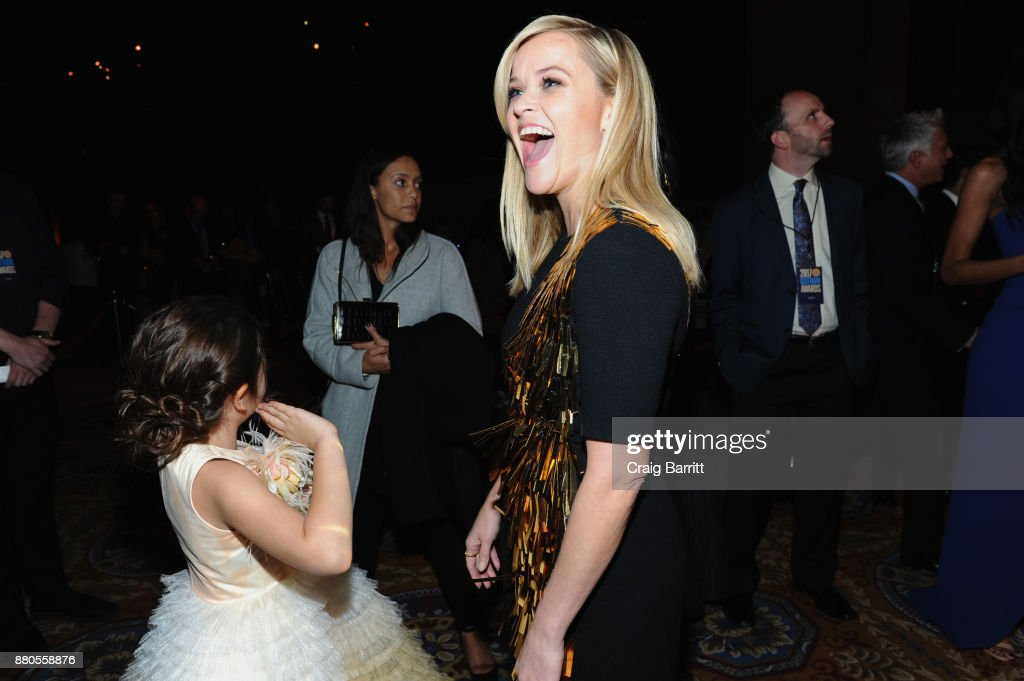 Actress Brooklynn Prince and Actress, producer Reese Witherspoon attends The 2017 IFP Gotham Independent Film Awards co-sponsored by FIJI Water at Cipriani Wall Street on November 27, 2017 in New York City.