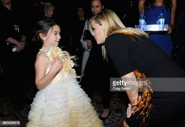 Actress Brooklynn Prince and Actress producer Reese Witherspoon attends The 2017 IFP Gotham Independent Film Awards cosponsored by FIJI Water at...
