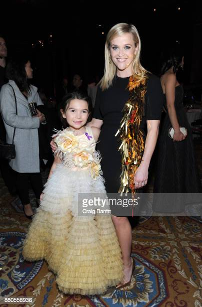 Actress Brooklynn Prince and Actress producer Reese Witherspoon attends The 2017 IFP Gotham Independent Film Awards cosponsored by Landmark Vineyards...