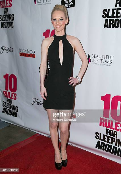 Actress Brooklynne James attends the Los Angeles Premiere of 10 Rules For Sleeping Around at the Egyptian Theatre on April 1 2014 in Hollywood...