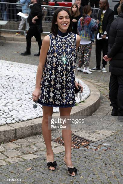 Actress Bruna Marquezine arrives at the Miu Miu show as part of the Paris Fashion Week Womenswear Spring/Summer 2019 on October 2 2018 in Paris France