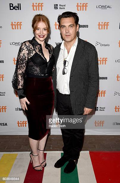 Actress Bryce Dallas Howard and director Joseph Wright attend the Black Mirror Premiere during the 2016 Toronto International Film Festival at...