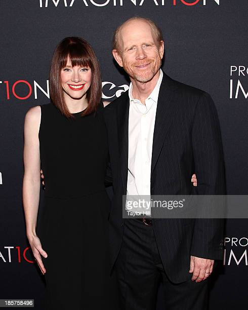 Actress Bryce Dallas Howard and director Ron Howard attend Canon's 'Project Imaginat10n' Film Festival opening night at Alice Tully Hall at Lincoln...