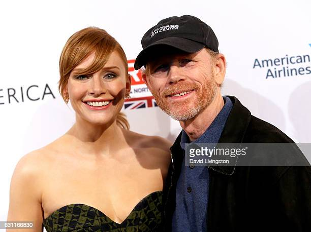 Actress Bryce Dallas Howard and director Ron Howard attend The BAFTA Tea Party at Four Seasons Hotel Los Angeles at Beverly Hills on January 7 2017...