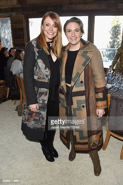 Actress Bryce Dallas Howard and host Lena Dunham attend Glamour's Women Rewriting Hollywood Lunch at Sundance Hosted By Lena Dunham Jenni Konner and...