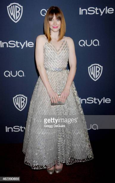 Actress Bryce Dallas Howard arrives at the 2014 InStyle And Warner Bros 71st Annual Golden Globe Awards postparty at The Beverly Hilton Hotel on...