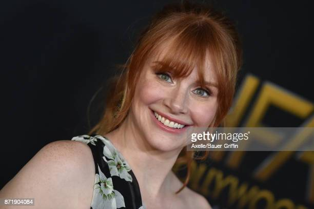 Actress Bryce Dallas Howard arrives at the 21st Annual Hollywood Film Awards at The Beverly Hilton Hotel on November 5 2017 in Beverly Hills...