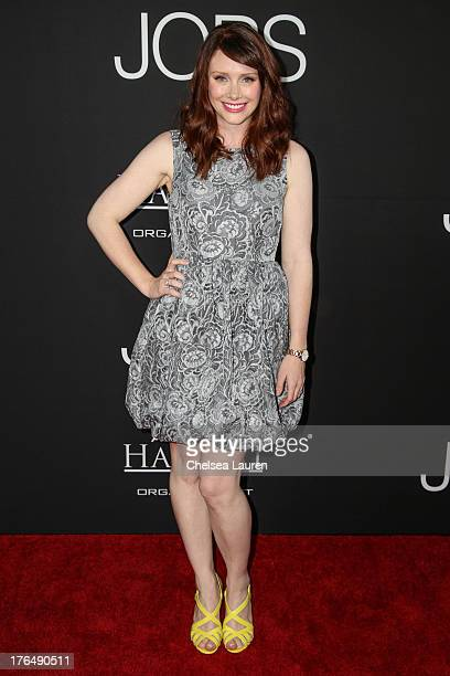 Actress Bryce Dallas Howard arrives at the 'Jobs' premiere at Regal Cinemas LA Live on August 13 2013 in Los Angeles California