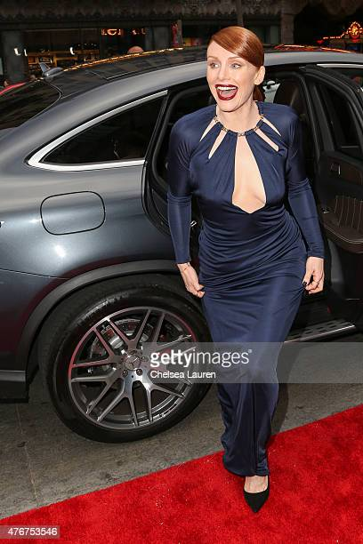 Actress Bryce Dallas Howard arrives at the 'Jurassic World' premiere sponsored by MercedesBenz on June 9 2015 in Hollywood California