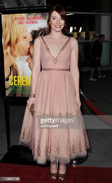 Actress Bryce Dallas Howard arrives at the Los Angeles Premiere Ceremony at ArcLight Hollywood on March 22 2011 in Hollywood California