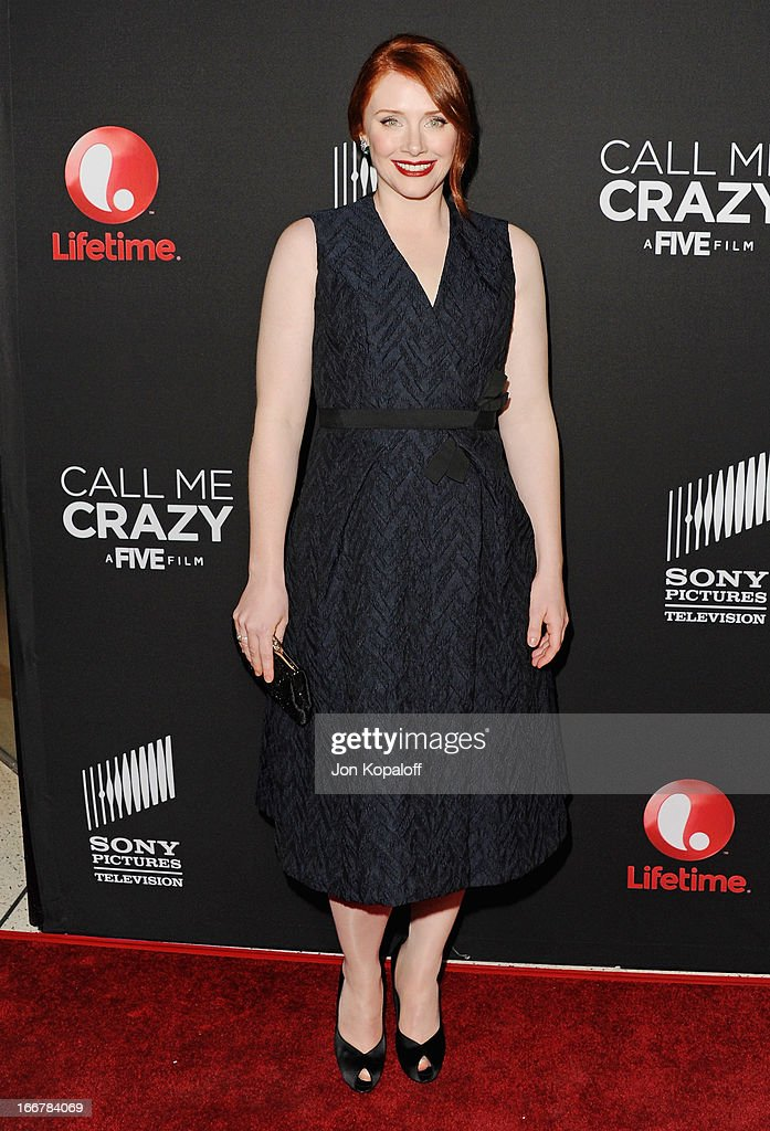 Actress Bryce Dallas Howard arrives at the Los Angeles Premiere 'Call Me Crazy: A Five Film' at Pacific Design Center on April 16, 2013 in West Hollywood, California.