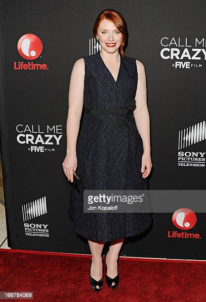 Actress Bryce Dallas Howard arrives at the Los Angeles Premiere Call Me Crazy A Five Film at Pacific Design Center on April 16 2013 in West Hollywood...