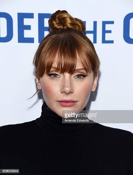 Actress Bryce Dallas Howard arrives at the premiere of EPIX's 'Under The Gun' at the Samuel Goldwyn Theater on May 3 2016 in Beverly Hills California