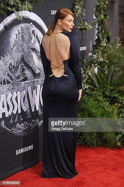 Actress Bryce Dallas Howard arrives at the World Premiere of 'Jurassic World' at Dolby Theatre on June 9 2015 in Hollywood California