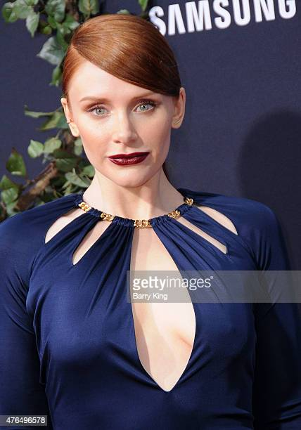 Actress Bryce Dallas Howard arrives at Universal Pictures World Premiere of 'Jurassic World' at Dolby Theatre on June 9 2015 in Hollywood California