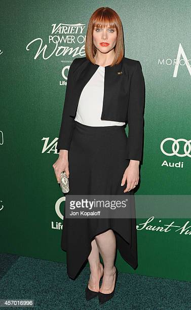 Actress Bryce Dallas Howard arrives at Variety's 2014 Power Of Women Event In LA Presented By Lifetime at the Beverly Wilshire Four Seasons Hotel on...