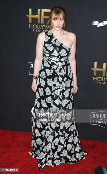 Actress Bryce Dallas Howard arrives for the 21st Annual Hollywood Film Awards held at The Beverly Hilton Hotel on November 5 2017 in Beverly Hills...