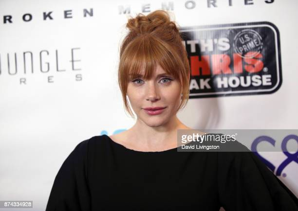 Actress Bryce Dallas Howard attends a benefit screening of Digital Jungle Pictures' Broken Memories at the Writers Guild Theater on November 14 2017...