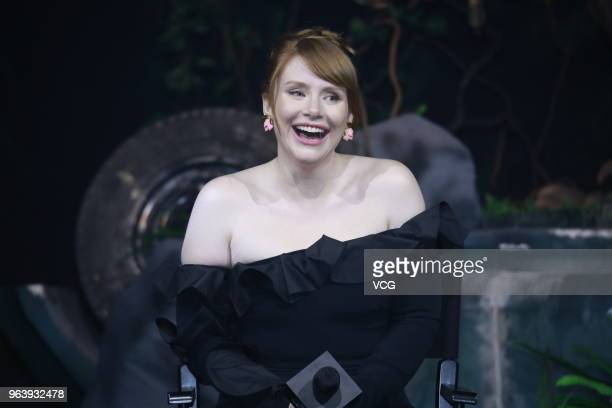 Actress Bryce Dallas Howard attends 'Jurassic World Fallen Kingdom' press conference at 1933 Old Millfun on May 30 2018 in Shanghai China