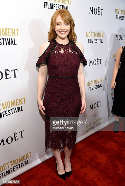 Actress Bryce Dallas Howard attends Moet Chandon Celebrates The 2nd Annual Moet Moment Film Festival and Kicks off Golden Globes Week at Doheny Room...