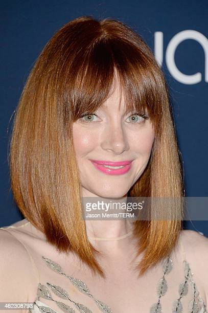 Actress Bryce Dallas Howard attends the 2014 InStyle and Warner Bros 71st Annual Golden Globe Awards PostParty on January 12 2014 in Beverly Hills...