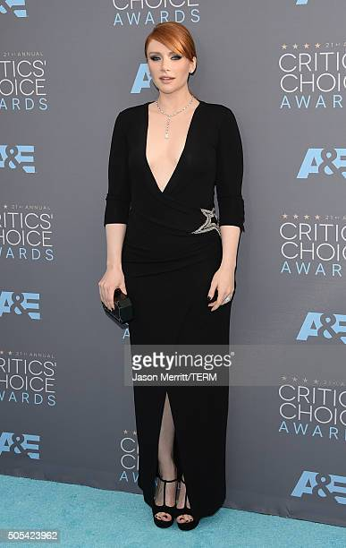 Actress Bryce Dallas Howard attends the 21st Annual Critics' Choice Awards at Barker Hangar on January 17 2016 in Santa Monica California
