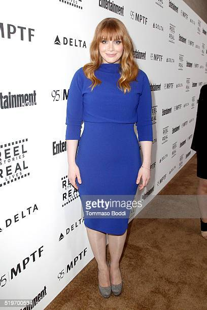 Actress Bryce Dallas Howard attends the 5th Annual Reel Stories Real Lives event benefiting MPTF at Milk Studios on April 7 2016 in Hollywood...