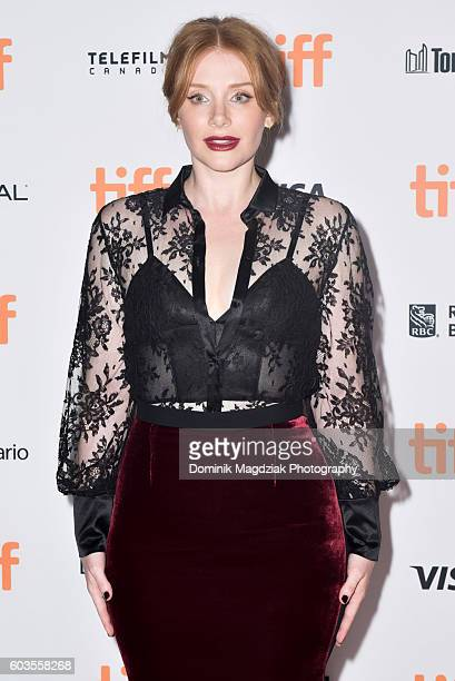 Actress Bryce Dallas Howard attends the 'Black Mirror' premiere during the 2016 Toronto International Film Festival at the Ryerson University Theatre...