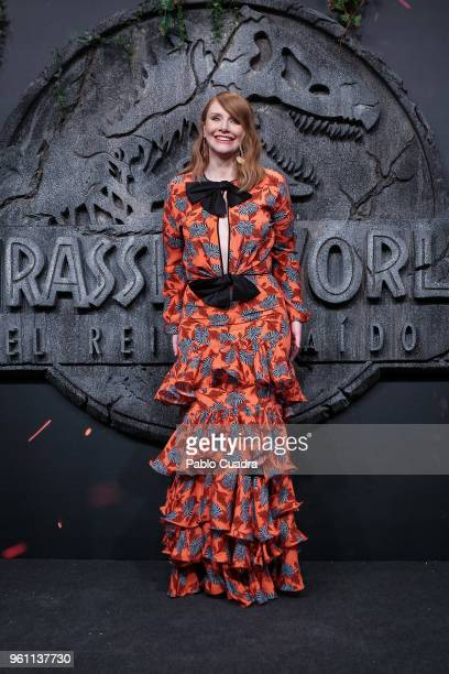 Actress Bryce Dallas Howard attends the 'Jurassic World Fallen Kindom' premiere at WiZink Center on May 21 2018 in Madrid Spain