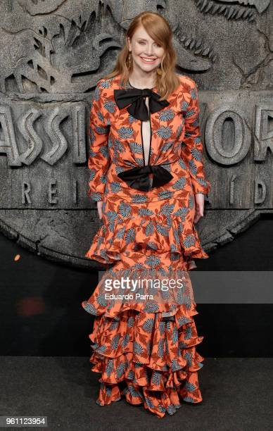 Actress Bryce Dallas Howard attends the 'Jurassic World Fallen Kingdom' premiere at Wizink Center on May 21 2018 in Madrid Spain