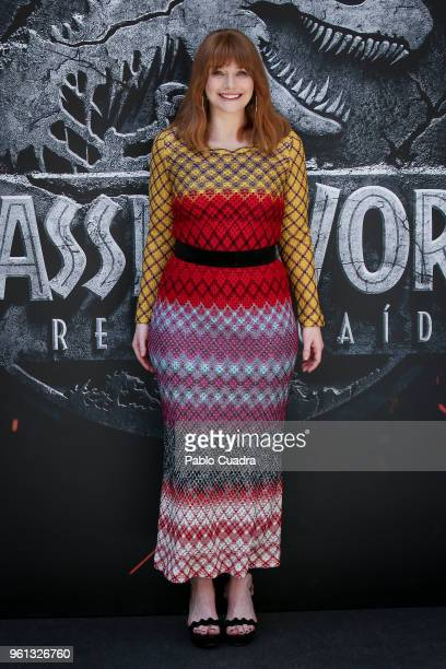 Actress Bryce Dallas Howard attends the 'Jurassic World Fallen Kingdom' photocall at Villa Magna Hotel on May 22 2018 in Madrid Spain