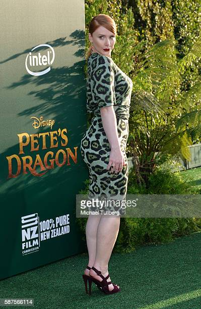 Actress Bryce Dallas Howard attends the premiere of Disney's 'Pete's Dragon' at the El Capitan Theatre on August 8 2016 in Hollywood California
