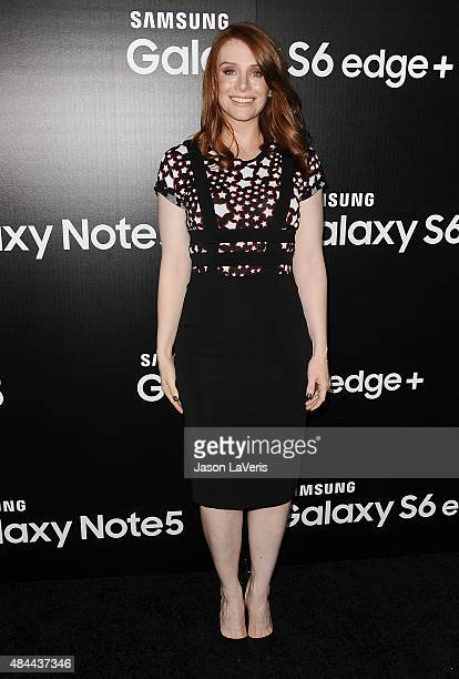 Actress Bryce Dallas Howard attends the Samsung launch party on August 18 2015 in West Hollywood California