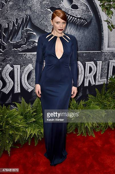 Actress Bryce Dallas Howard attends the Universal Pictures' 'Jurassic World' premiere at the Dolby Theatre on June 9 2015 in Hollywood California
