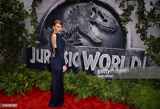 Actress Bryce Dallas Howard attends the Universal Pictures' Jurassic World premiere at the Dolby Theatre on June 9 2015 in Hollywood California