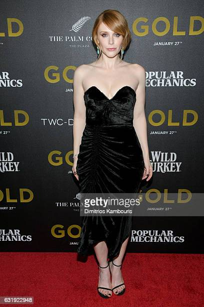 Actress Bryce Dallas Howard attends The World Premiere of Gold hosted by TWC Dimension with Popular Mechanics The Palm Court Wild Turkey Bourbon at...