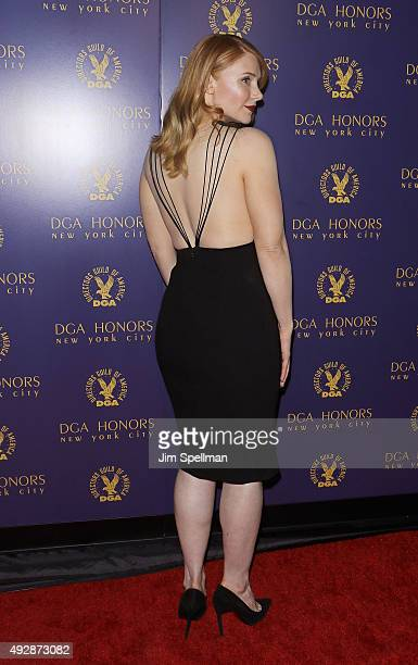 Actress Bryce Dallas Howard back view of dress attends the DGA Honors Gala 2015 at the DGA Theater on October 15 2015 in New York City