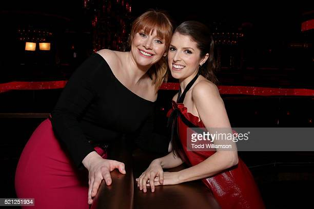 Actress Bryce Dallas Howard recipient of the Excellence in Acting Award and actress Anna Kendrick one of the recipients of the Comedy Stars of the...