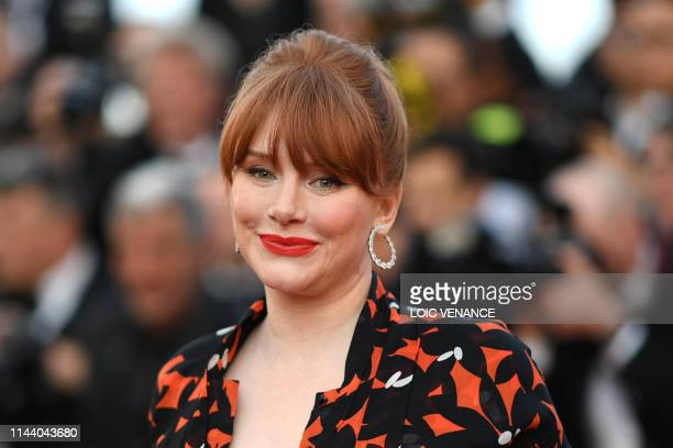 US actress Bryce Dallas Howard smiles as she arrives for the screening of the film Rocketman at the 72nd edition of the Cannes Film Festival in...